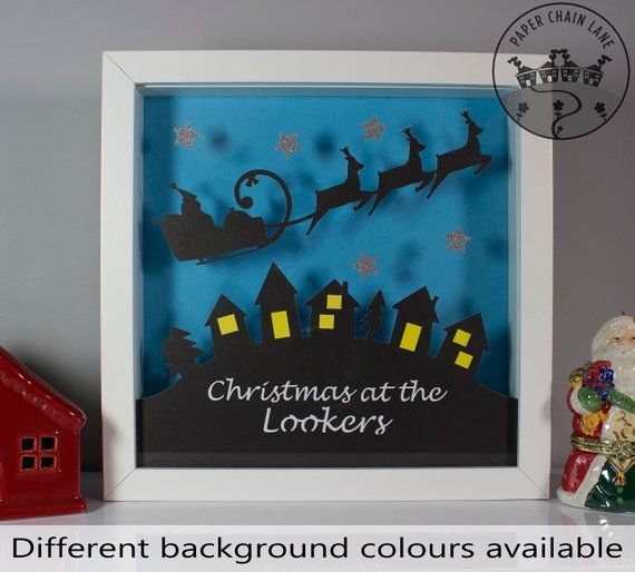 Personalised Christmas gift for the family, Christmas paper cut gift