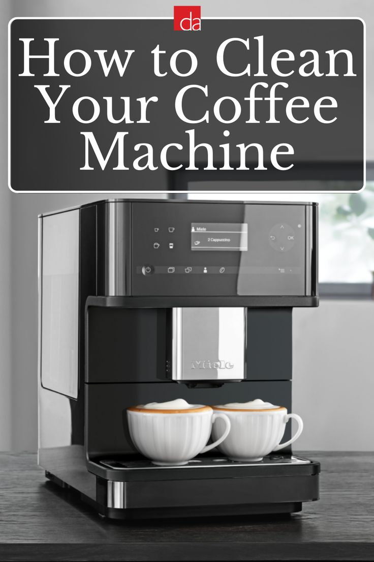 Descale clean your miele coffee machine wthese products