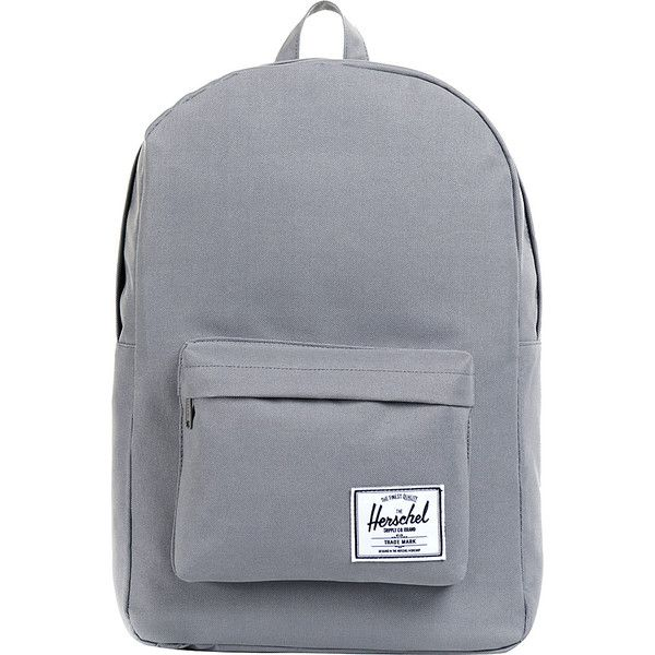 Herschel Supply Co. Classic Backpack ($45) ❤ liked on Polyvore featuring bags, backpacks, backpack, accessories, grey, school & day hiking backpacks, grey backpack, herschel supply co backpack, gray bag and day pack backpack