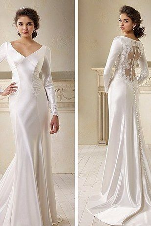 This classy gown inspired by Bella from Twilight: | 17 Gorgeous Wedding Dresses All Book Lovers Will Adore