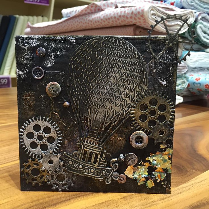 Another sample made for Crafters Companion Birthday week. I'm not a confident mixed media crafter however the new Sheena Douglass Time Traveller collection made it easy. I used a 6×6 can…