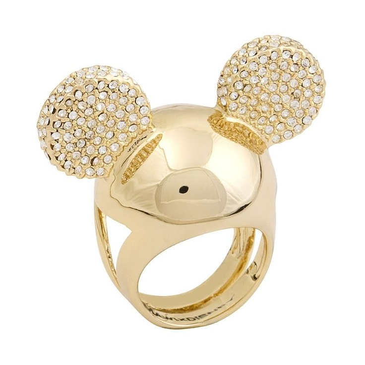 Disney Couture Mawi Minnie Swarovski Crystal Ears Ring