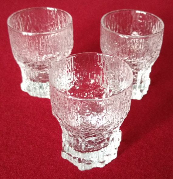 ASLAK Tapio Wirkkala Icicle Cordial Glasses, Set of 3, Scandinavian  Visit our on-line store for many more vintage / collectible treasures and hand made quilts at https://www.etsy.com/shop/HHQuiltsCollectables