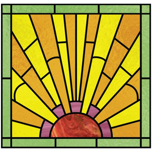 Art deco wall art art deco design 1a art deco design 1 for Window design art