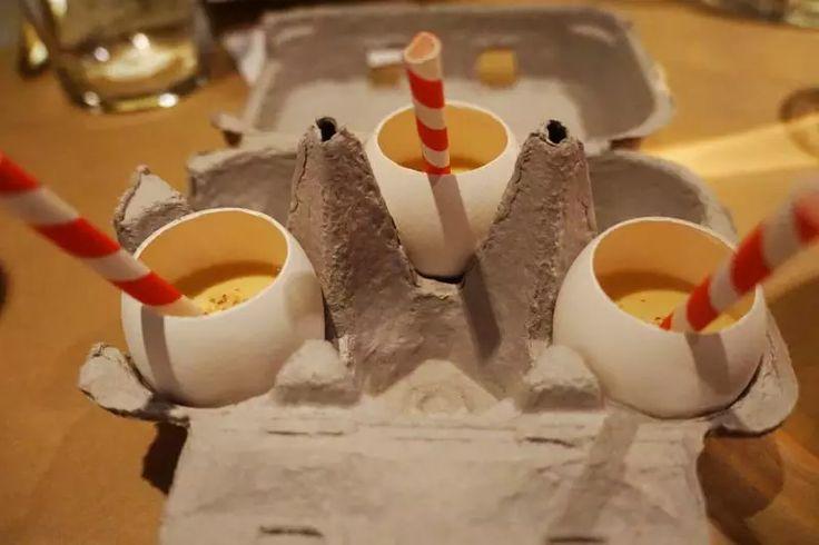 Eggnog in an Egg - Opso Restaurant, London