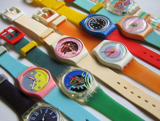 Swatch, and of course the swatch plastic Swatch protector that went over it.  I had the pink Swatch that smelled like strawberries :)