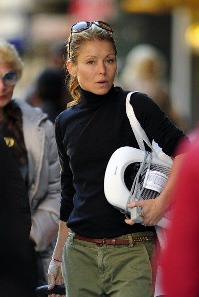 Kelly Ripa in a turtleneck