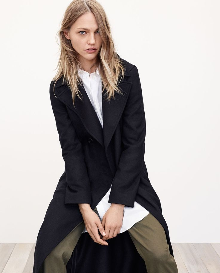 Zara Recycled Wool Coat, Long Shirt and Relaxed Fit Trousers