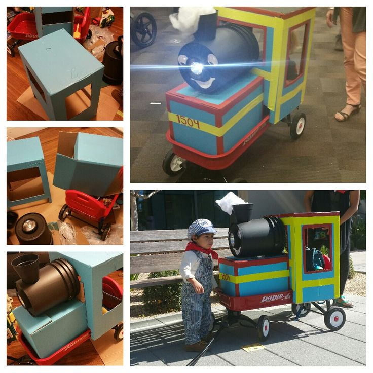 how to build a cardboard thomas the train
