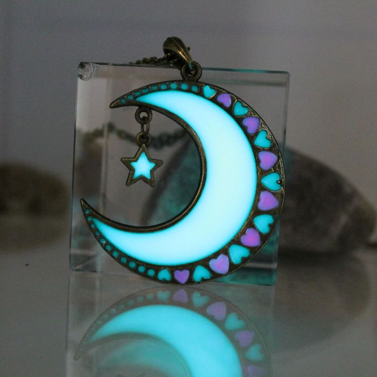 Cheap necklace moon, Buy Quality glow in dark directly from China glow in the dark Suppliers: 2017 New Glowing moon necklace moon and stars Necklace GLOW in the DARK Luminous love heart Pendants Necklaces women girls gift