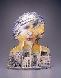 93/394/1 Sculpture, 'Casanova', porcelain, Jindra Vikova, Czechoslovakia/Australia, 1988