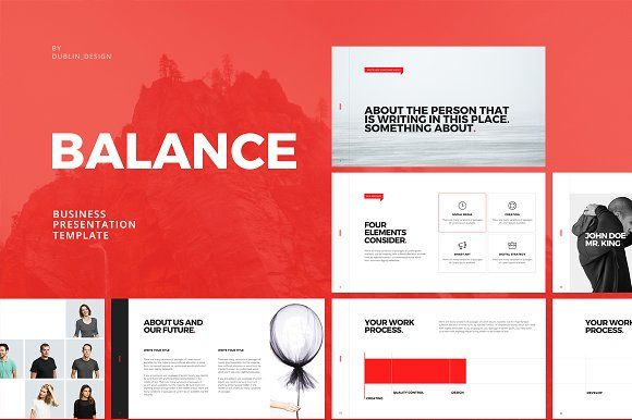 Balance Business Powerpoint by Dublin_Design on @creativemarket