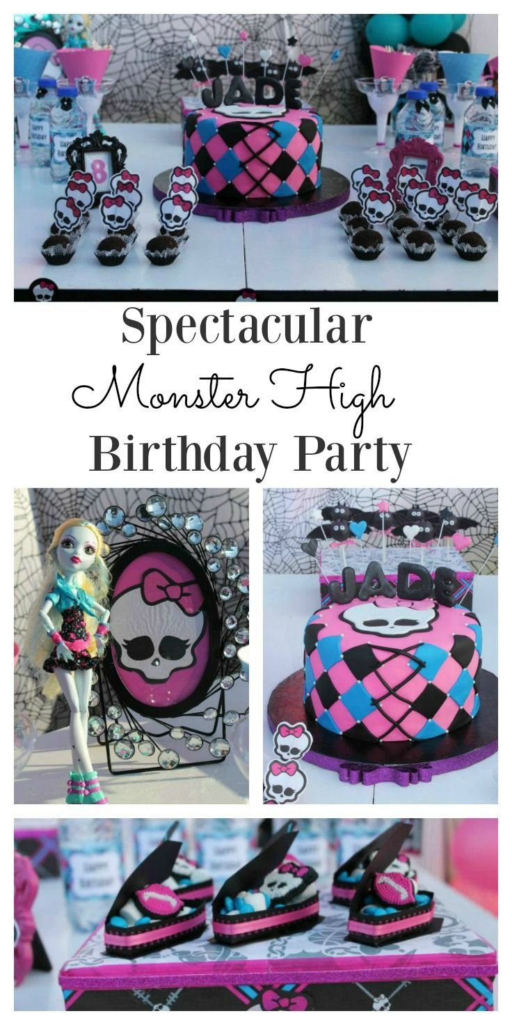 A Monster High theme party is the perfect choice for young girls who are looking for a more grown up party theme. If you are not sure how to make the party work for you, then these Monster High decoration and food ideas will help. It is a bright, fun, vibrant theme that all young girls will enjoy. This Monster High cake is a real winner too.