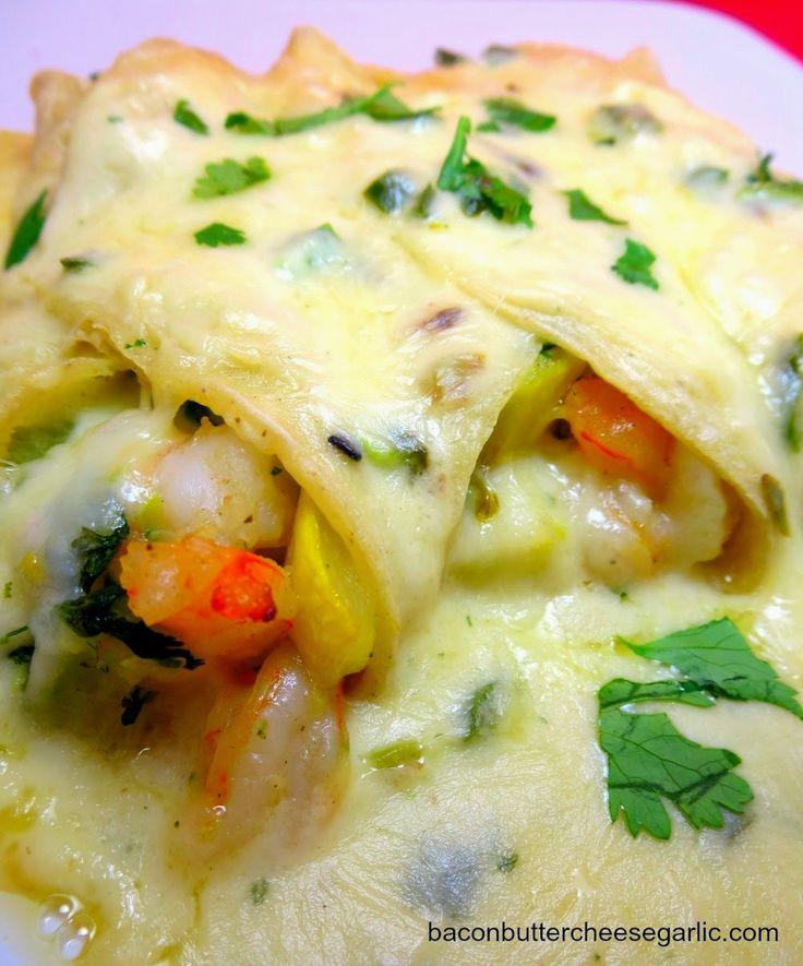 Enchiladas...while the idea of shrimp, squash & zucchini enchiladas ...