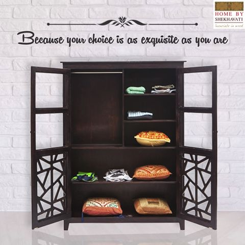 BECAUSE YOUR CHOICE IS AS EXQUISITE AS YOU ARE . Love unique and exclusive furniture ?? Then Home By Shekhavati is your perfect market. We have wide range of beautiful and contemporary home decor furniture in all types that will leave you speechless. To shop, visit http://bit.ly/HBS_Shop