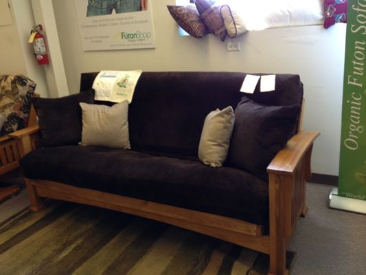 Craftsman Wood Futon Frame - The Futon Shop San Francisco - 2150 Cesar Chavez St SF, CA 94124 (415) 920-6801 Corporate Office Line: (415) 920-6800