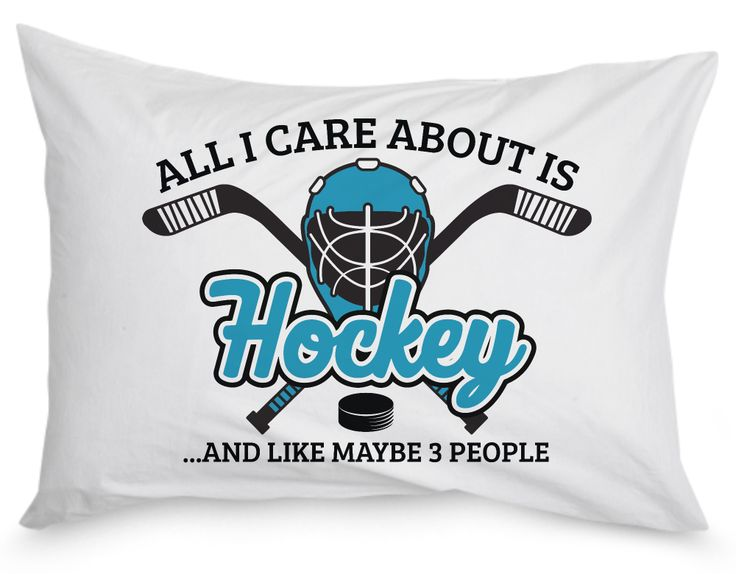All I Care About Is Hockey ...and Like Maybe 3 People. The pillow case for any dedicated hockey fan. Order here - https://diversethreads.com/products/all-i-care-about-is-hockey-pillow-case