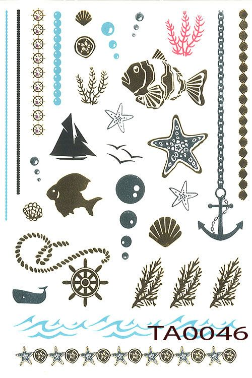 Sea Life Temp Tattoos