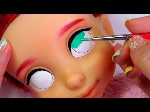 ★토이구마★디즈니 베이비돌 리페인팅!!에리얼★Repainting Disney Animators' Collection Doll Ariel/ディズニーのプリンセスベビー・ドール - YouTube