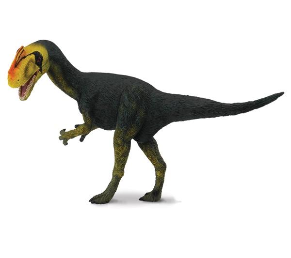 """Proceratosaurus - El Proceratosaurus era un dinosaurio carnívoro con un pequeño cuerno encima del hocico. Se dice que fue uno de los primeros tiranosaurios. Su nombre significa """"Anterior al Lagarto Cornudo"""". Alto: 7 cm Largo: 15 cm Figuras de gran calidad y detalle, parecen de verdad!  Edad: a partir de 3 años Marca: Collecta Ref. 30382 Precio: 8.00 € IVA incluido"""