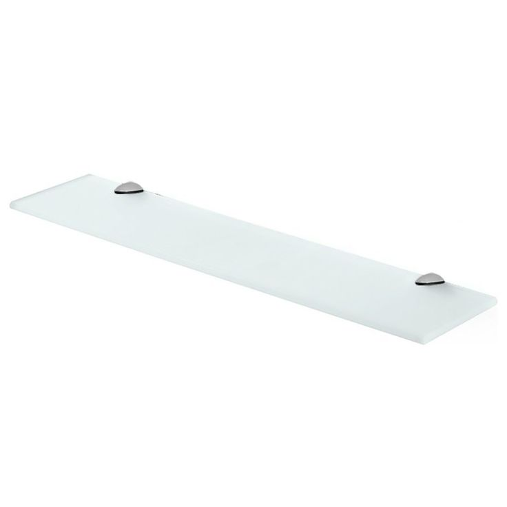 Fab Glass and Mirror Rectangle Floating Glass Shelf with Chrome Brackets  Frosted  Glass  8. 17 migliori idee su Floating Glass Shelves su Pinterest