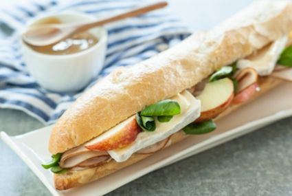 Mt. Tam Cheese and Turkey Baguette Sandwiches - the ultimate Fall sandwich!
