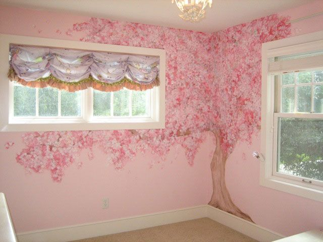 30 best images about wall mural on pinterest teen for Cherry blossom mural on walls