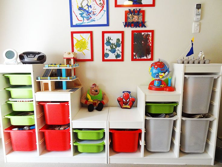 Small Toy Organizer : Small playroom ideas kids bedrooms interior