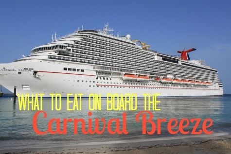 A Carnival Breeze review - all about the food! #sponsored