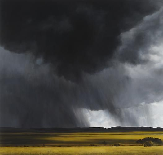 Storm, Rain, Light, 2013, oil on linen, 68 x 72 inches by April Gornik at Danese/Corey