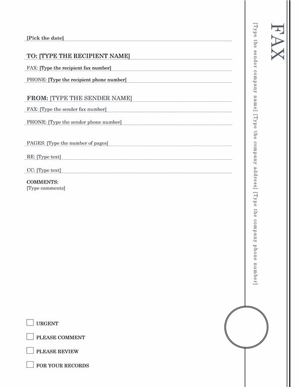 Fax Cover Sheet Oriel Theme  Report Ideas