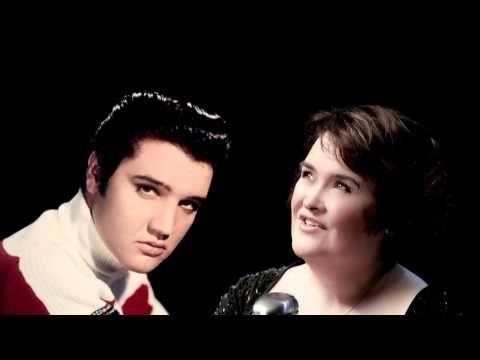 Elvis Presley en Susan Boyle - o come all ye faithful 2013 - YouTube