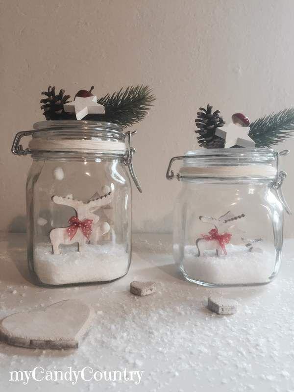 Super Oltre 25 idee originali per Barattoli di vetro natalizi su  CU03