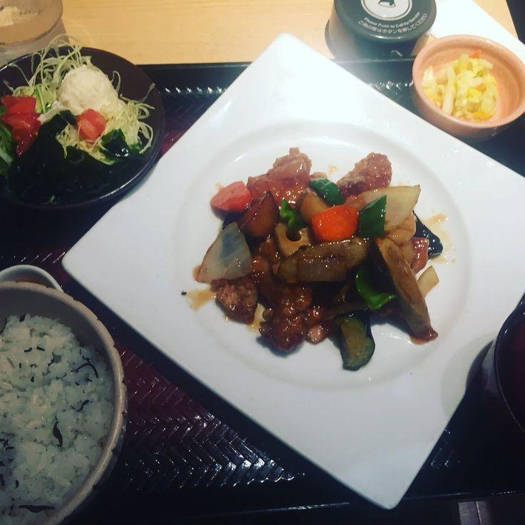 大戸屋 - 鶏と野菜の黒酢あん定食 ひじきご飯【チケットレストラン 食事券】