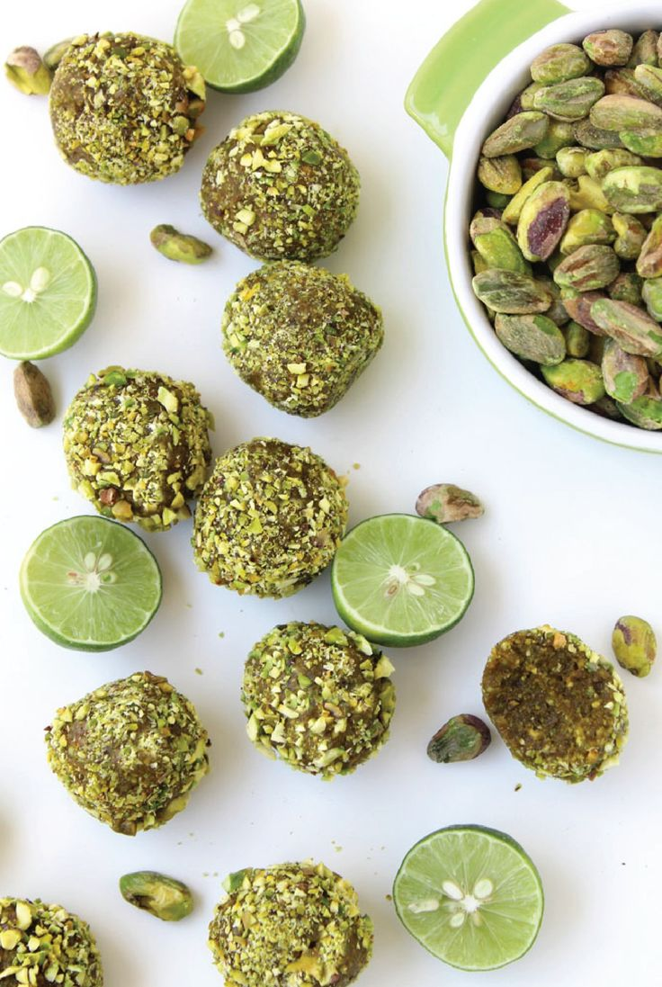 Raw Key Lime Pistachio Bites – This easy, no-bake recipe is a great, healthy dessert option! Try this sweet treat without feeling guilty!