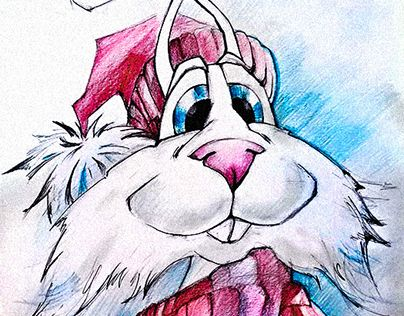 """Check out new work on my @Behance portfolio: """"""""Christmas Bunny"""""""" http://be.net/gallery/31518005/Christmas-Bunny"""