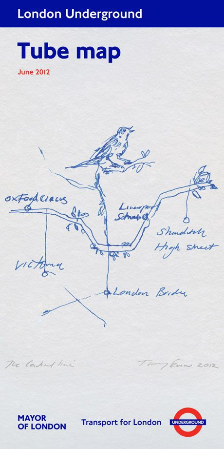 Tracey Emin's tube map draws a natural connection