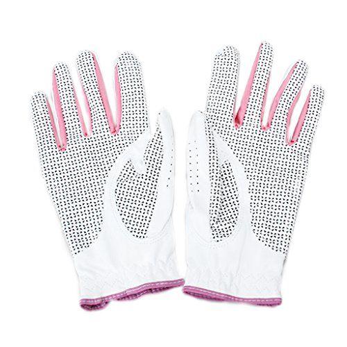 Descripción: Un par de guantes de golf para mujer Dedos perforados permiten una mayor transpirabilidad y un mejor rango de movimiento<br