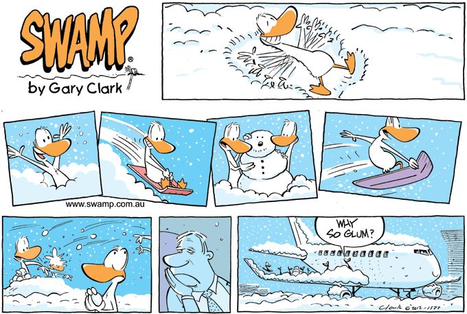 Air travel + snow can be fun for some and not   so for others! www.swamp.com.au
