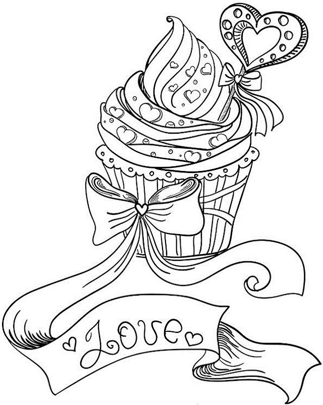 Valentines Day Coloring Pages For Adults Holiday Rhpinterest: Cupcake Coloring Pages For Adults At Baymontmadison.com