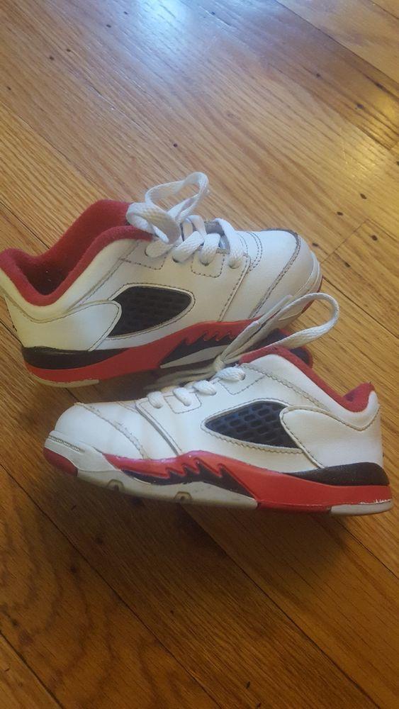 new concept 89e84 3fced Nike Air Jordan Retro 5 Low toddler size 7c white fire red black 314340-101   Jordan  Athletic