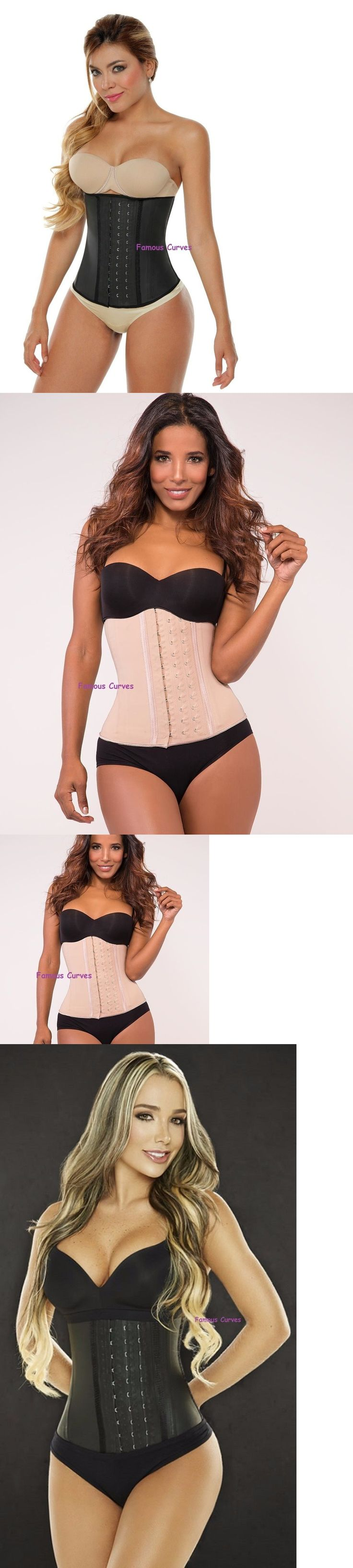 Women Shapewear: Womens Latex Waist Trainer Ann Chery / Slim / Colombian Shaper 3 Hook Shapewear BUY IT NOW ONLY: $40.84