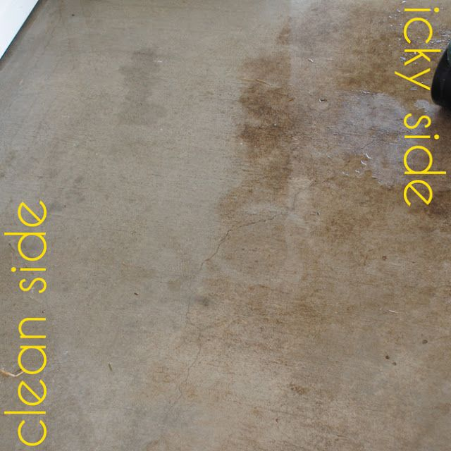 I should be mopping the floor diy miracle concrete patio for Bleach on concrete floor