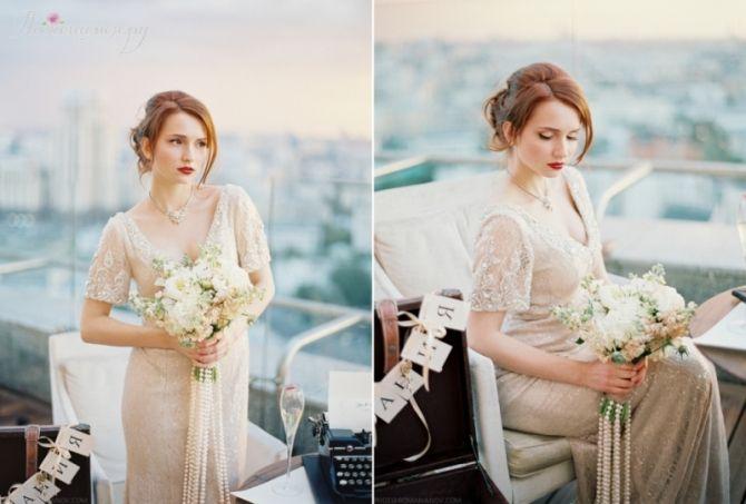 vintaje bridal look