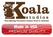 Koala Sewing Furniture-Made in America!  Beautiful, high-quality Koala furniture can be customized to fit your individual needs!  Available in our Centers.
