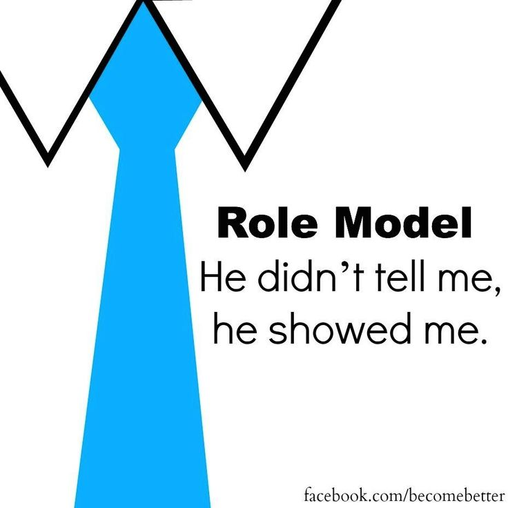 role model Are you a good example for others to follow role modelling is a part and parcel of the way organisations function and for excellent organisations to succeed, yet it.