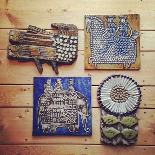 スウェーデンの陶芸家リサ・ラーソンの陶板