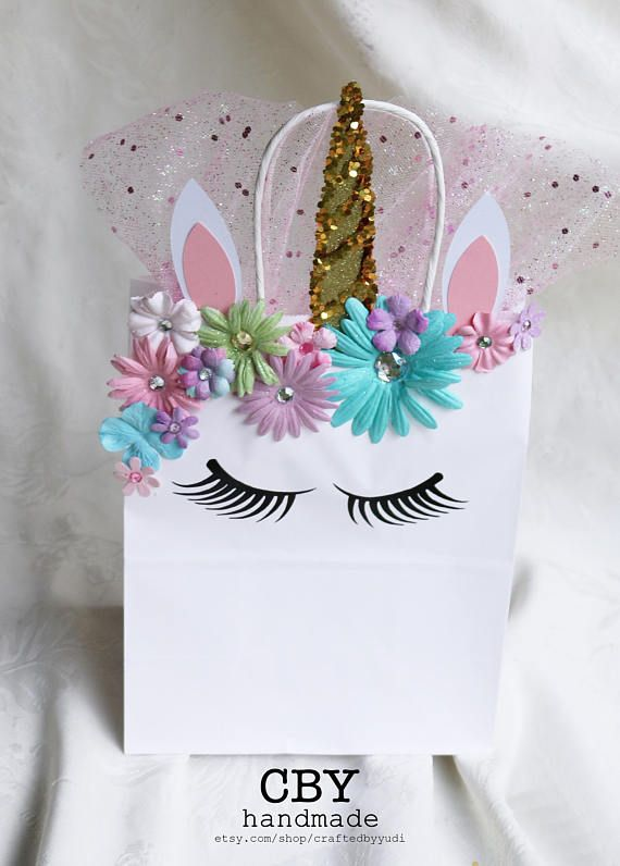 Bolsas de regalo de parte de ultra Glam unicornio  conjunto