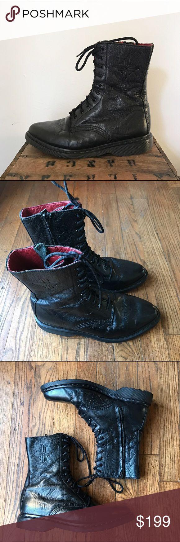 Dr. Martens for Yohji Yamamoto Combat Boots Dr. Martens for Yohji Yamamoto Combat Boots in black. Very well taken care of, rarely worn. Size 8. Yohji Yamamoto Shoes Combat & Moto Boots