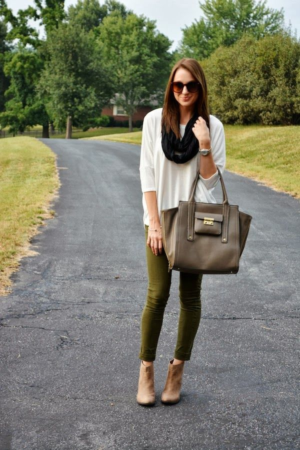 fall favorite: olive skinnies | lenore lamé